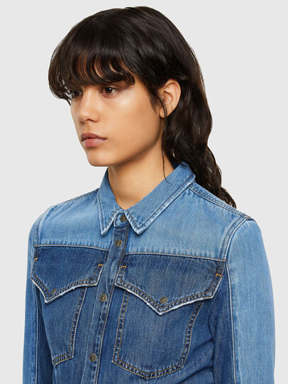 Diesel - DE-MISTY, Medium blue - Denim Shirts - Image 4