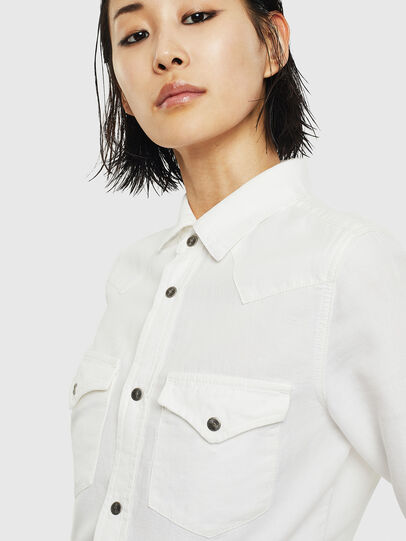 Diesel - DE-RINGY, White - Denim Shirts - Image 4