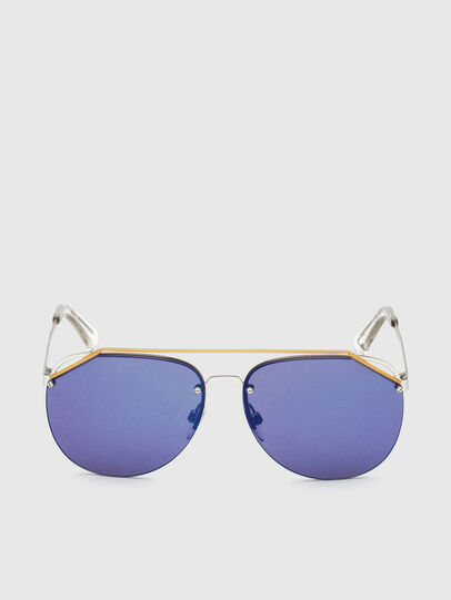 Diesel - DL0314, White/Blue - Sunglasses - Image 1