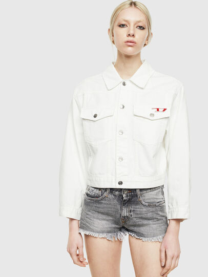 Diesel - DE-CATY, White - Denim Jackets - Image 1