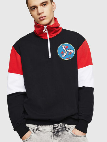 Diesel - S-LEONID, Black/Red - Sweaters - Image 1