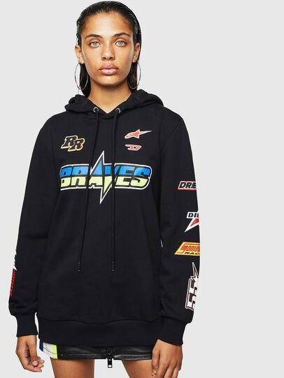 Diesel - ASTARS-F-GIR-HOOD-FL, Black - Sweaters - Image 1