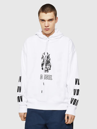 Diesel - S-ALBY-A1, White - Sweaters - Image 1