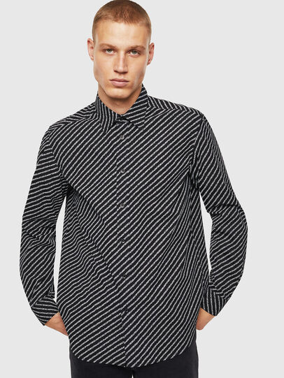 Diesel - S-PENN-COPY, Black - Shirts - Image 1