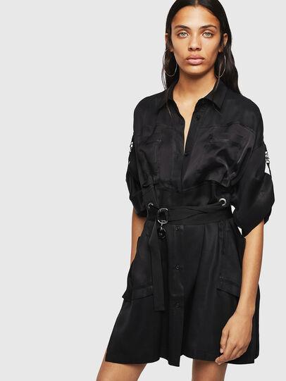 Diesel - D-TIEP, Black - Dresses - Image 1