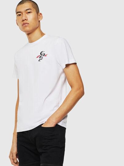Diesel - T-DIEGO-J16, White - T-Shirts - Image 1