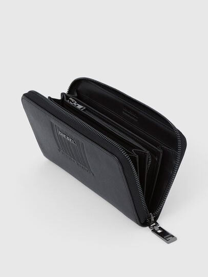 Diesel - 24 ZIP LOOP, Black - Zip-Round Wallets - Image 4