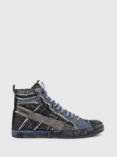 Diesel - D-VELOWS MID LACE, Black/Blue - Sneakers - Image 1