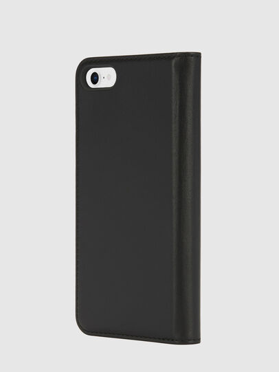 Diesel - SLIM LEATHER FOLIO IPHONE 8/7, Black - Flip covers - Image 3