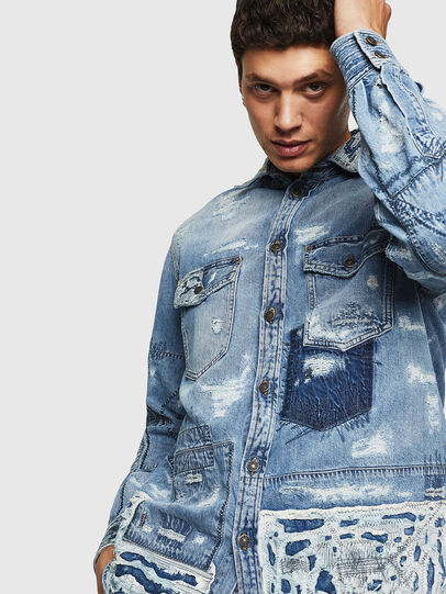 Diesel - D-HISAKY-SY, Blue Jeans - Denim Shirts - Image 7