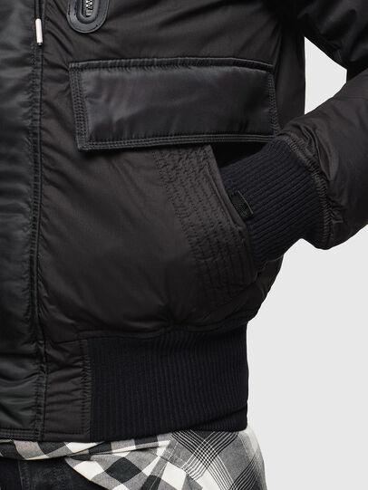 Diesel - W-BURKISK, Black - Winter Jackets - Image 5