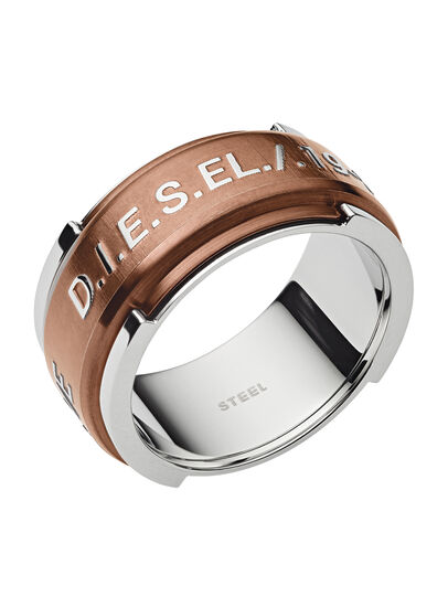 Diesel - RING DX1097, Bronze - Rings - Image 1