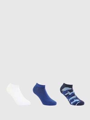 SKM-GOST-THREEPACK, Blue/White - Socks