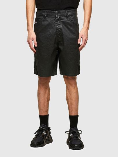 Diesel - D-WILLOH-X-SP JOGGJEANS, Black - Shorts - Image 1