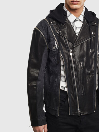 Diesel - D-LOSTY-SY, Black - Leather jackets - Image 7