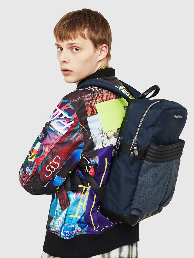 Diesel - M-PROOF BACK, Blue Jeans - Backpacks - Image 7
