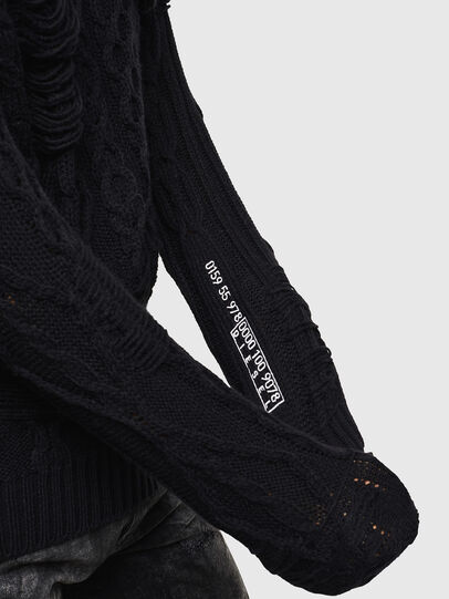 Diesel - K-BRIGLY, Black - Knitwear - Image 7
