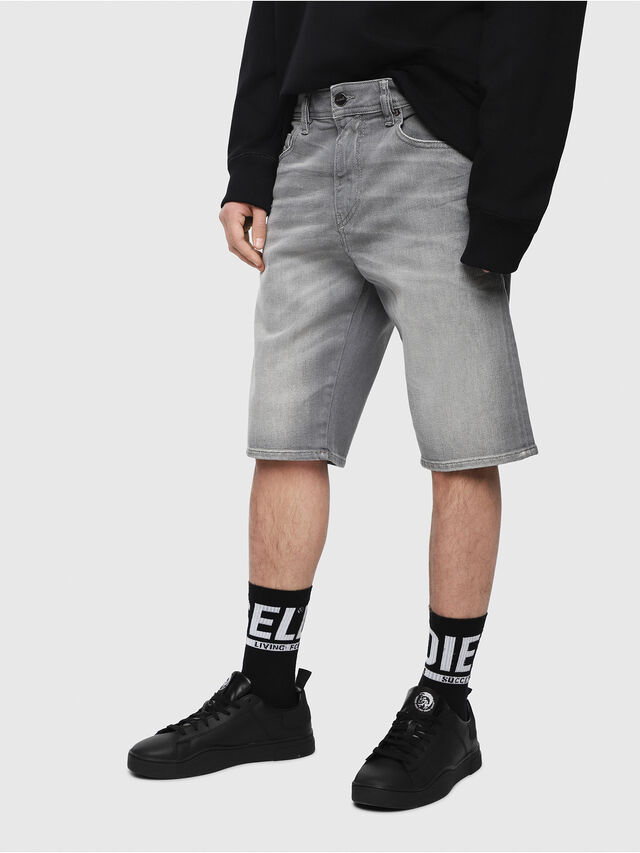 Diesel THOSHORT, Grey Jeans - Shorts - Image 1