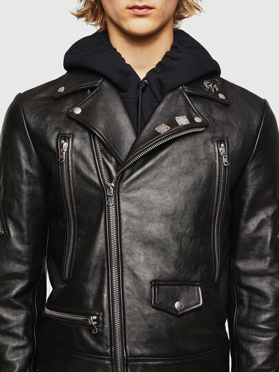 Diesel - L-PERF, Black - Leather jackets - Image 4