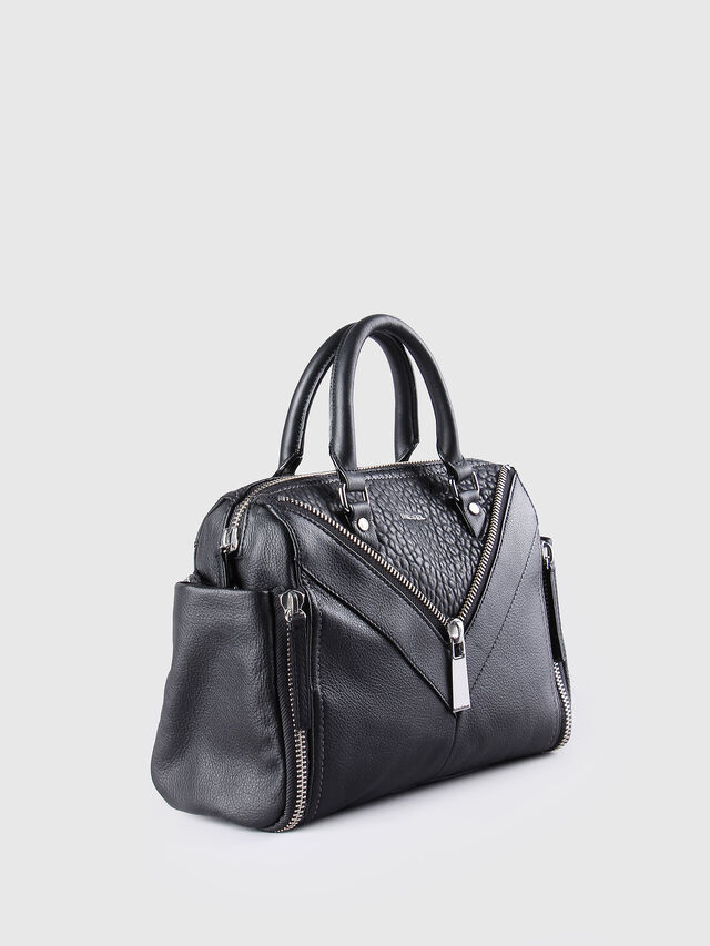 Diesel LE-TRASY, Black Leather - Satchels and Handbags - Image 3