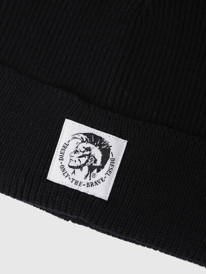 Diesel - K-CODER, Black - Knit caps - Image 3