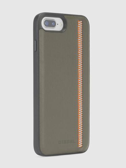 Diesel - ZIP OLIVE LEATHER IPHONE 8 PLUS/7 PLUS/6s PLUS/6 PLUS CASE,  - Cases - Image 4