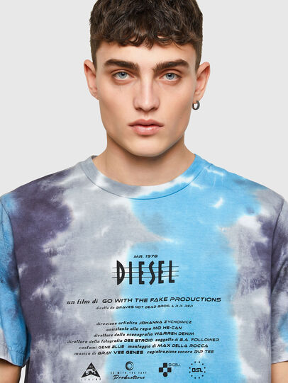 Diesel - T-JUST-E13, Grey/Blue - T-Shirts - Image 3