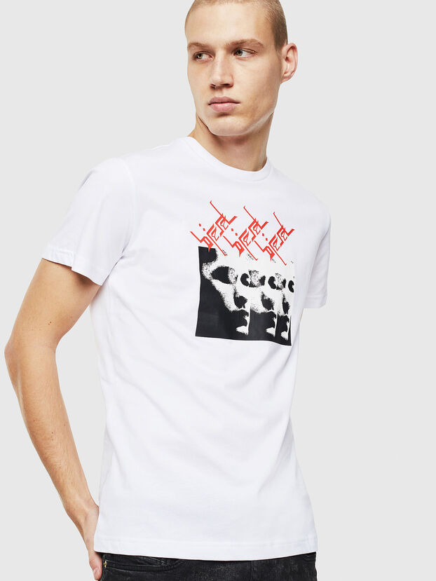 T-DIEGO-J12, White/Black - T-Shirts