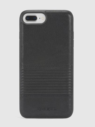 Diesel - BLACK LINED LEATHER IPHONE 8 PLUS/7 PLUS/6s PLUS/6 PLUS CASE, Black - Cases - Image 2