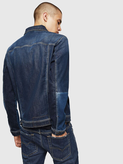 Diesel - D-NHILL-SP JOGGJEANS, Medium blue - Denim Jackets - Image 2