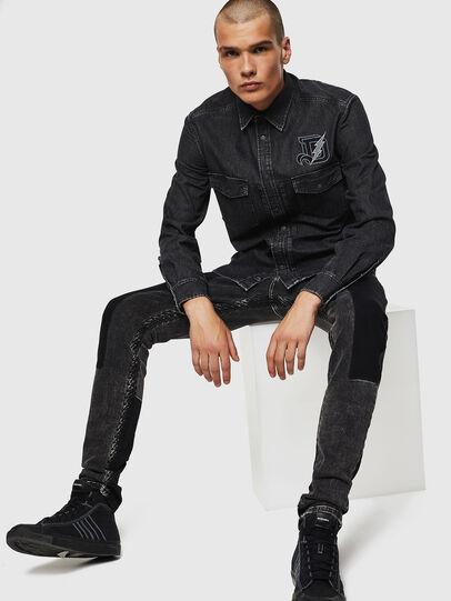 Diesel - D-BANDY-B, Black - Denim Shirts - Image 5