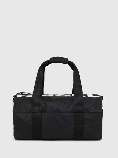 Diesel - F-BOLD DUFFLE, Black/White - Travel Bags - Image 1