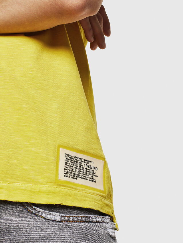 Diesel - T-DIEGO-CUT-A, Yellow - T-Shirts - Image 5