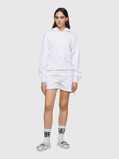 Diesel - F-LYM-HOOD-C.C, White - Sweaters - Image 5