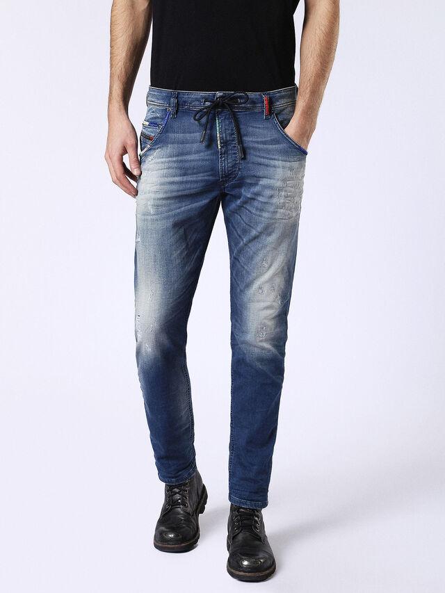 Diesel Krooley JoggJeans 0680Y, Medium blue - Jeans - Image 2