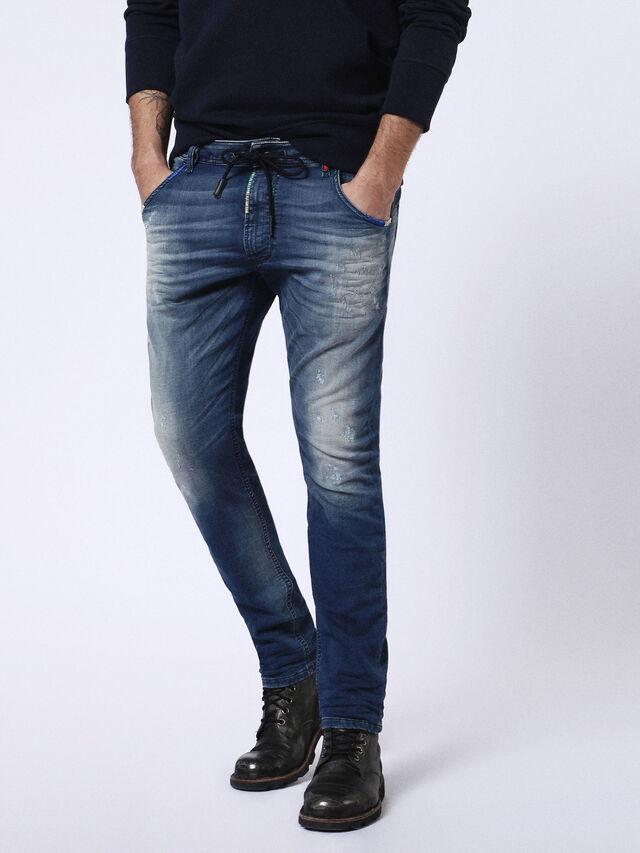 Diesel Krooley JoggJeans 0680Y, Medium blue - Jeans - Image 1